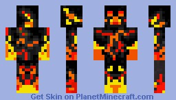 Magma Creeper Minecraft Skin
