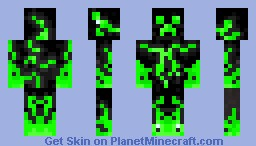 Acid Creeper Minecraft Skin