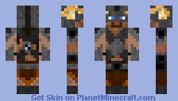 dragon-born (original blue eyes) Minecraft Skin