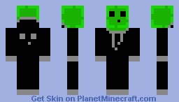Hooded Slime Man (with Moving eyes) Minecraft Skin