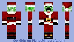 a nice chistmas creeper Minecraft Skin