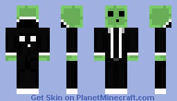 Hooded suited slime man Minecraft Skin