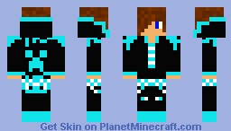 techno kid with hoodie Minecraft Skin