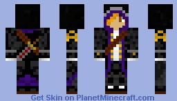 PURPLE ASSASSIN Minecraft Skin