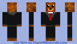 Bear In a Suit Minecraft Skin