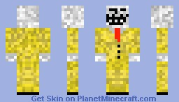 Troll Face In Yellow Suit Minecraft Skin