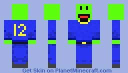 Mr.Happy ( football player , no helmet ) Minecraft Skin