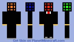 Rubik's Cube Head w/ Suit Minecraft Skin