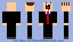 Retarded Business Man With A Comb Over! Minecraft Skin