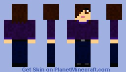 Dark Clothes -interchangeable gender Minecraft Skin