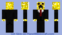 New Yellow Creeper in a suit! Minecraft Skin