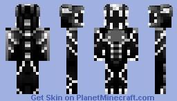 White/Black Dragon Minecraft Skin