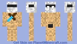 Nude herobrine Minecraft Skin