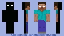 Herobrine/Enderman Minecraft Skin