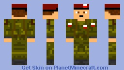 Poland Army Soldier (Sorry about me not being on pmc so long) Minecraft Skin