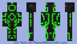 Green Tron Minecraft Skin