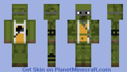 ninja turtle with gun Minecraft Skin