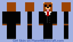 Bear in Suit (50th skin!) Minecraft Skin