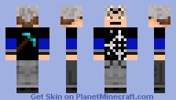 Typical Teen W/ Wolf Hat & Pickaxe [Spiff™] Minecraft Skin