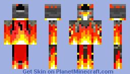 Flaming Knight Minecraft Skin