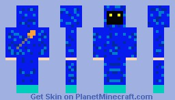 Mysterious Blue Mage Minecraft Skin