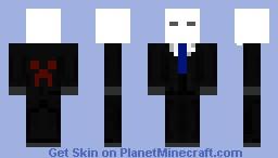 The SlenderMan Minecraft Skin