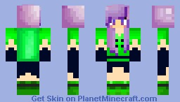 Galaxy Girl Minecraft Skin