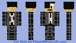 black spiderman Minecraft Skin