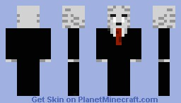 Ghast in Suit V2 Minecraft Skin