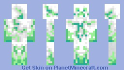 White Nature Creeper Minecraft Skin