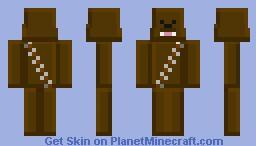 Blocky Chewbacca Minecraft Skin