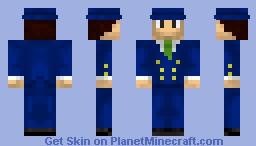 Gentleman (Blue) Minecraft Skin