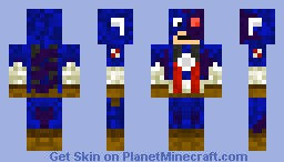 Infected Captain America Minecraft Skin