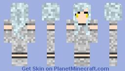 Sparkly ghost girl Minecraft Skin