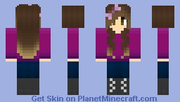~ Ellives ~ Purple Apple Minecraft Skin