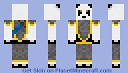 Panda in Armor Minecraft Skin