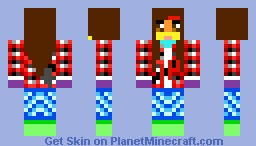 AWESOME/HOT GIRL (IHASCUPQUAKE) (SIS OF THE 1ST GIRL,MY SIS MADE) Minecraft Skin