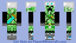 Armoured Creeper Adventurer Minecraft Skin