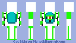 Portal 2 Skin UPGRADED ATLAS Minecraft Skin