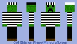 Creeper Prisoner Minecraft Skin