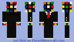 Rubix Cube In A Suit Minecraft Skin