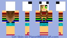 Panda Girl. Minecraft Skin