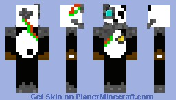 Panda Cyberpunk Minecraft Skin