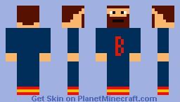 man with beardstache Minecraft Skin