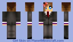 girl in suit Minecraft Skin