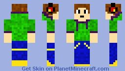 Green hoodie Minecraft Skin