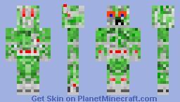 Cyberpunk Creeper Minecraft Skin