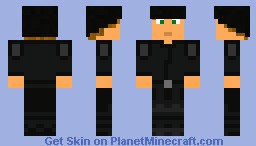 Black Recruit Minecraft Skin