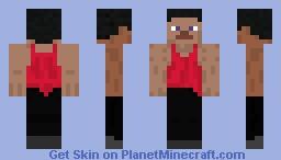 Tank-Top Steve Minecraft Skin