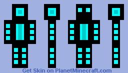 Black and Blue Neon skin Minecraft Skin
